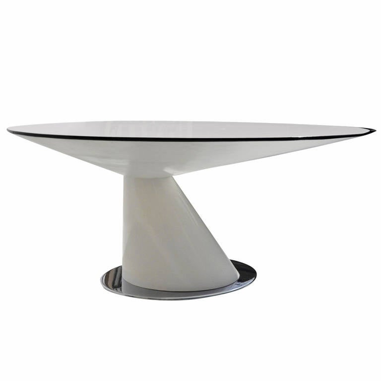 elegantly futuristic circular dining table at 1stdibs