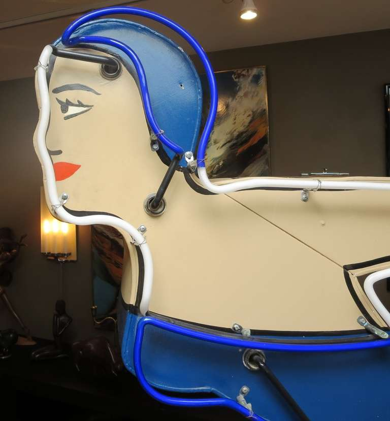 Large Neon Diving Girl Motel Sign 4