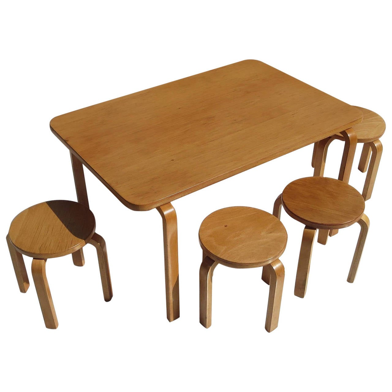 this children 39 s scaled dining set by alvar aalto for artek is no