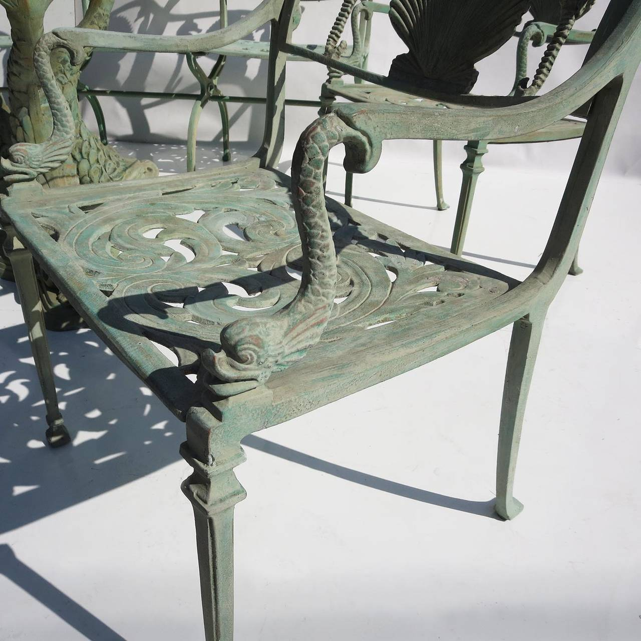 Seahorse And Shell Motif Patio Suite By Molla Nyc At 1stdibs