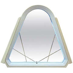 Lacquered Italian Pop Art Lighted Wall Mirror