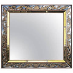 Grand Wall Mirror with Églomisé Painted Frame