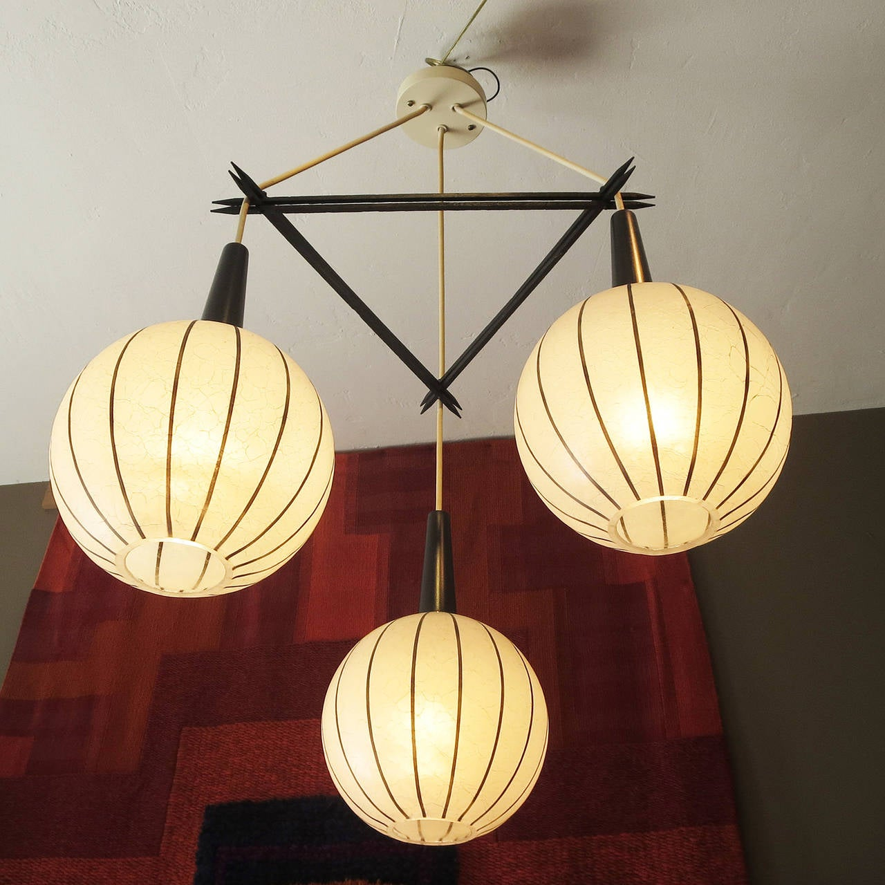 this mid century danish triple hanging lamp is no longer available. Black Bedroom Furniture Sets. Home Design Ideas