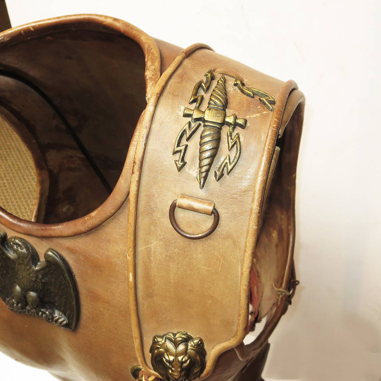 American Telly Savalas Leather Chest Plate Prop from