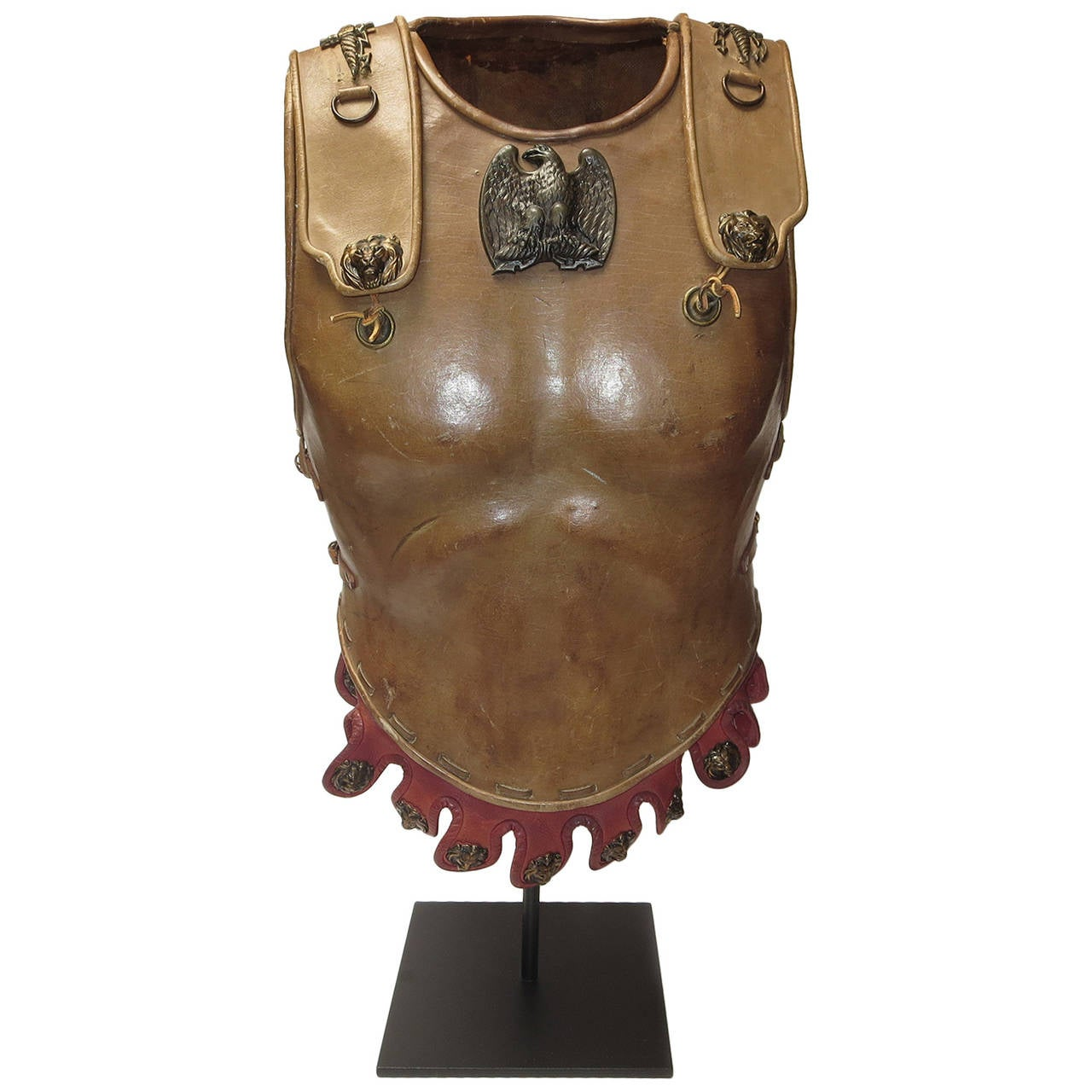 "Telly Savalas Leather Chest Plate Prop from ""The Greatest Story Ever Told"", 1965 1"