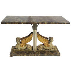 Neo Classical Sphinx Console Table