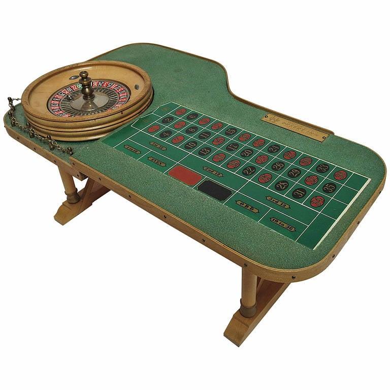 Miniature Bar Top Roulette Table From Desert Inn Las Vegas