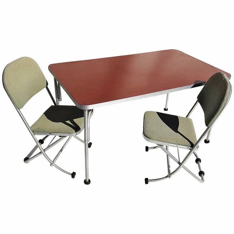 Warren Mcarthur Art Deco Dinette Table And Chairs For