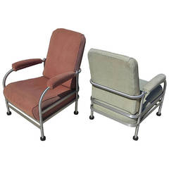 Warren McArthur Art Deco Pair of Armchairs - All Original