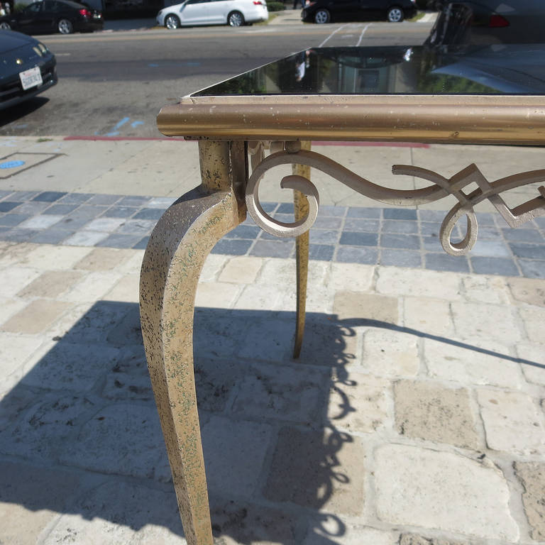 Églomisé Mirrored Game Table in the Manner of Rene Drouet For Sale 2