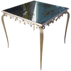 Églomisé Mirrored Game Table in the Manner of Rene Drouet