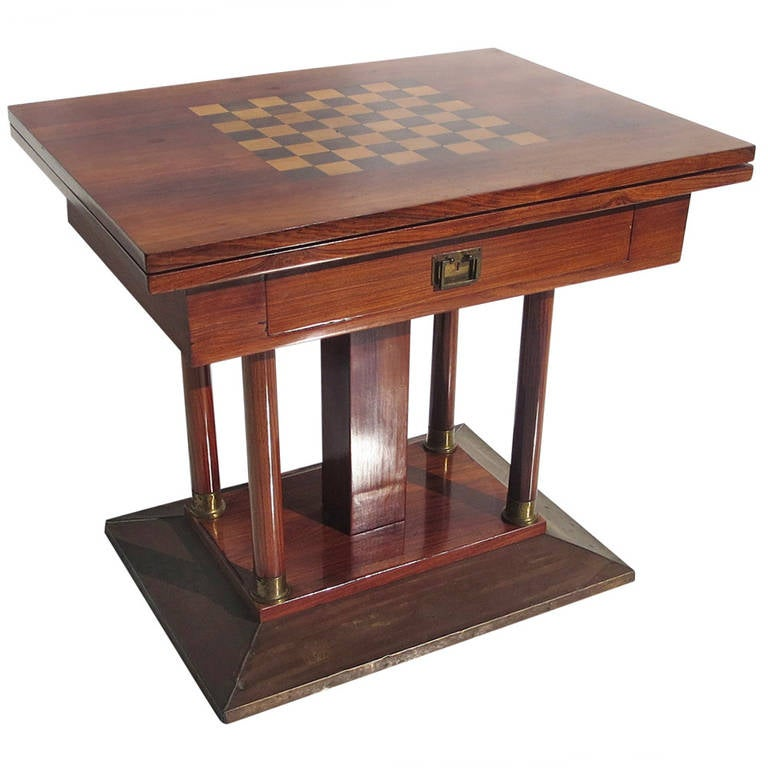 expanding art deco game table in rosewood 1 art deco style rosewood