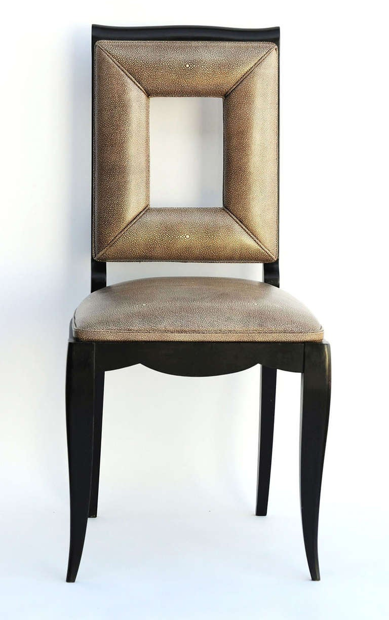 Art Deco Dining Table and Eight Chairs in the Manner of Jules Leleu For Sale 1
