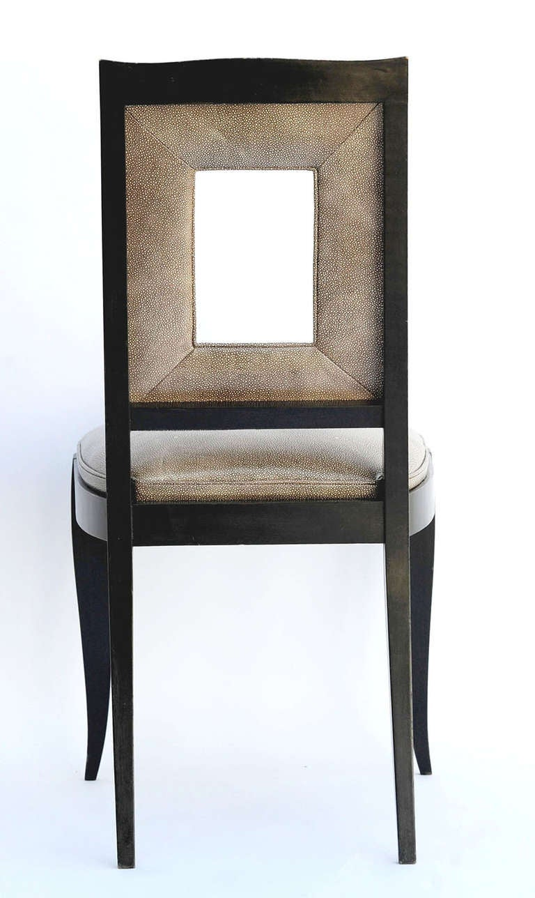 Art Deco Dining Table and Eight Chairs in the Manner of Jules Leleu For Sale 2