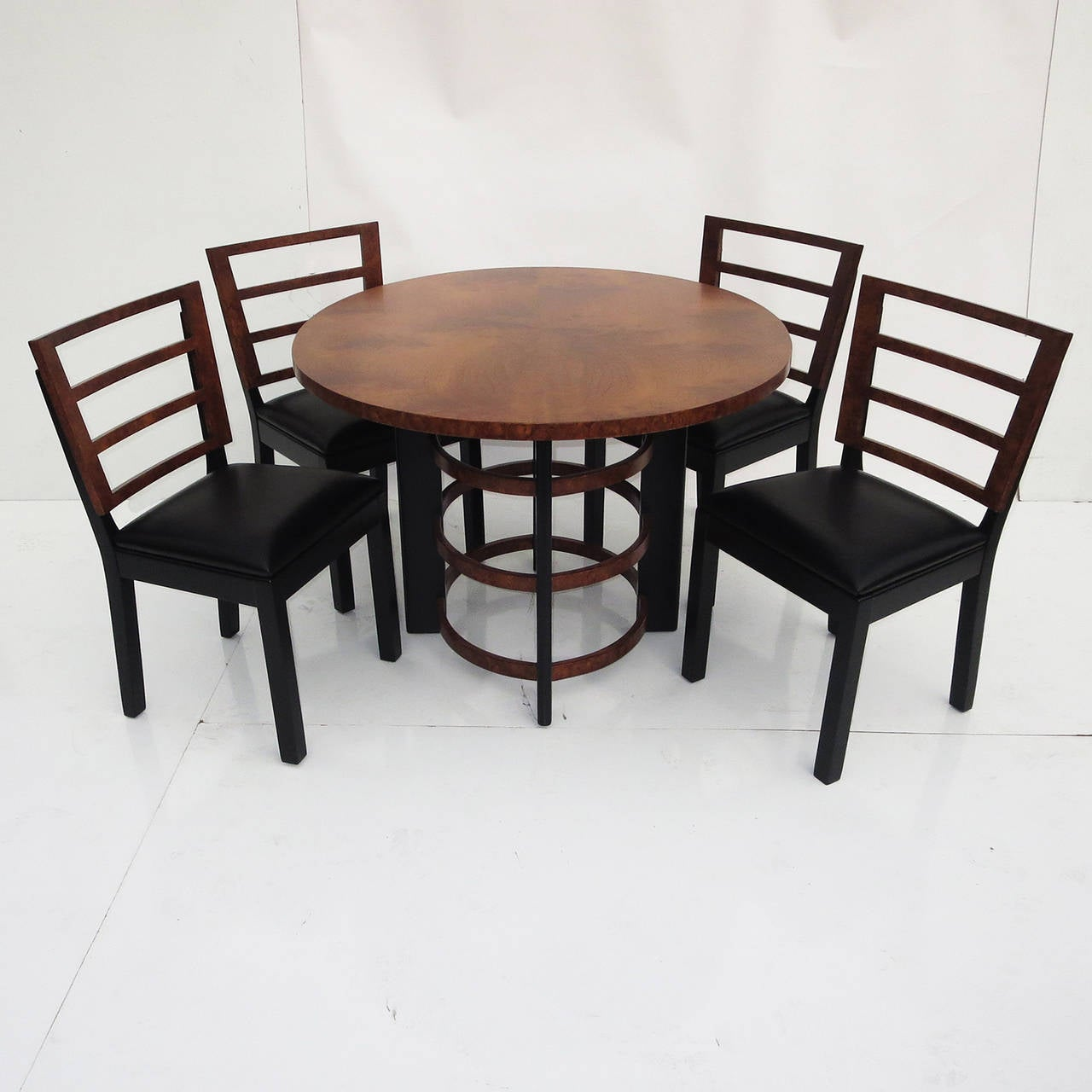 Ultra rare gilbert rohde for herman miller dining suite at