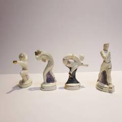 1960 Rome Olympics Glazed Porcelain Figures