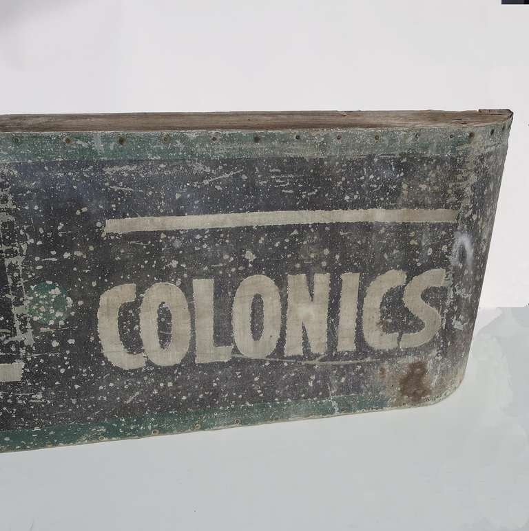 Swedish Massage And Colonics Street Sign For Sale At 1stdibs