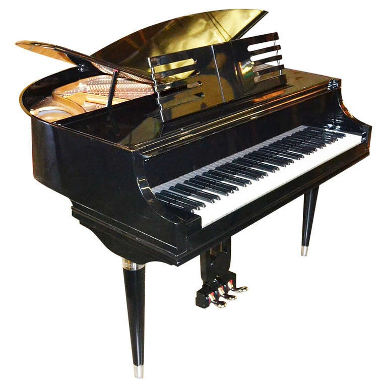 art deco wurlitzer petite butterfly piano at 1stdibs. Black Bedroom Furniture Sets. Home Design Ideas