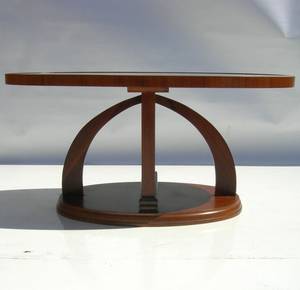 Streamlined art deco coffee table at 1stdibs for Art deco coffee table