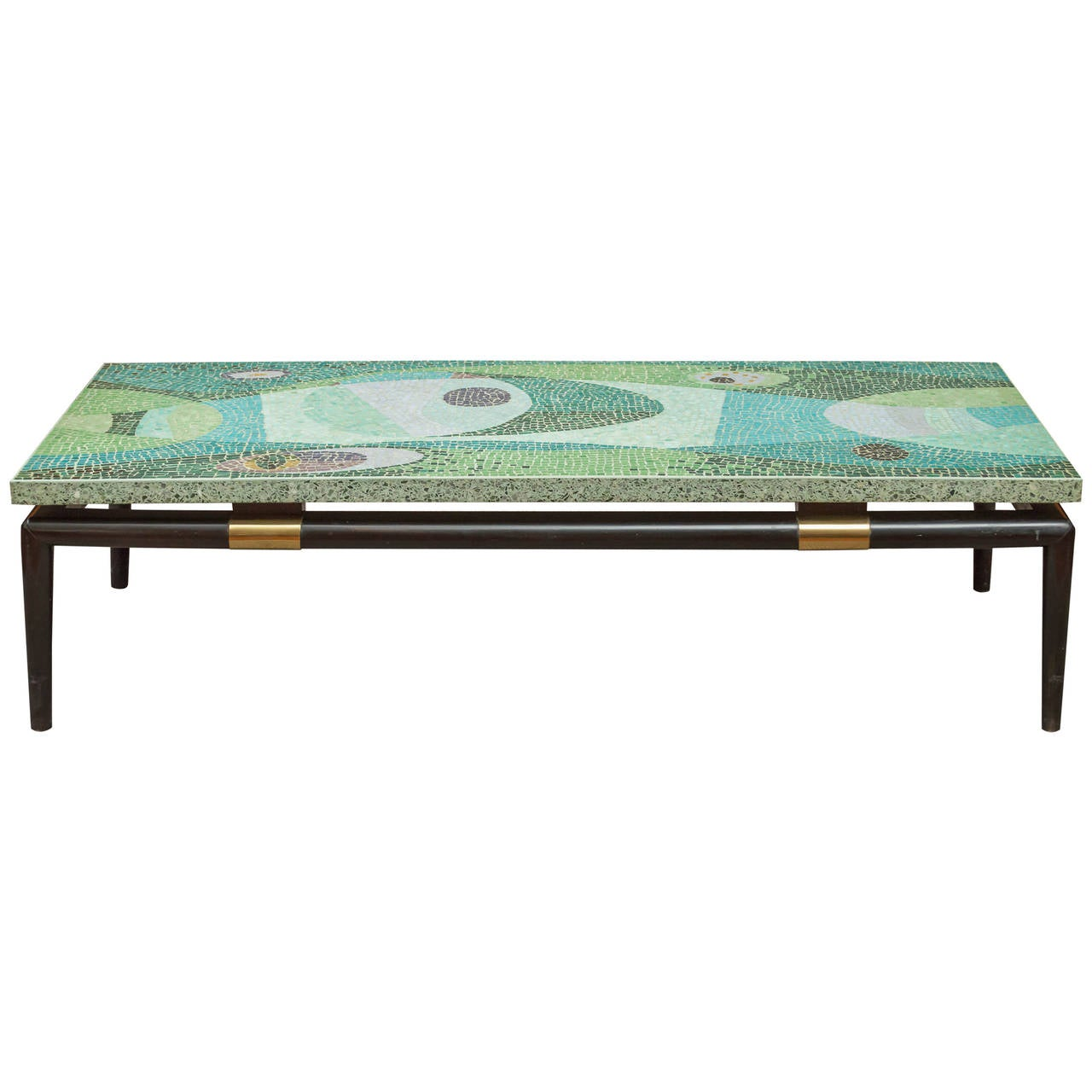 Mid century modern mosaic coffee table at 1stdibs for Mid century modern coffee table