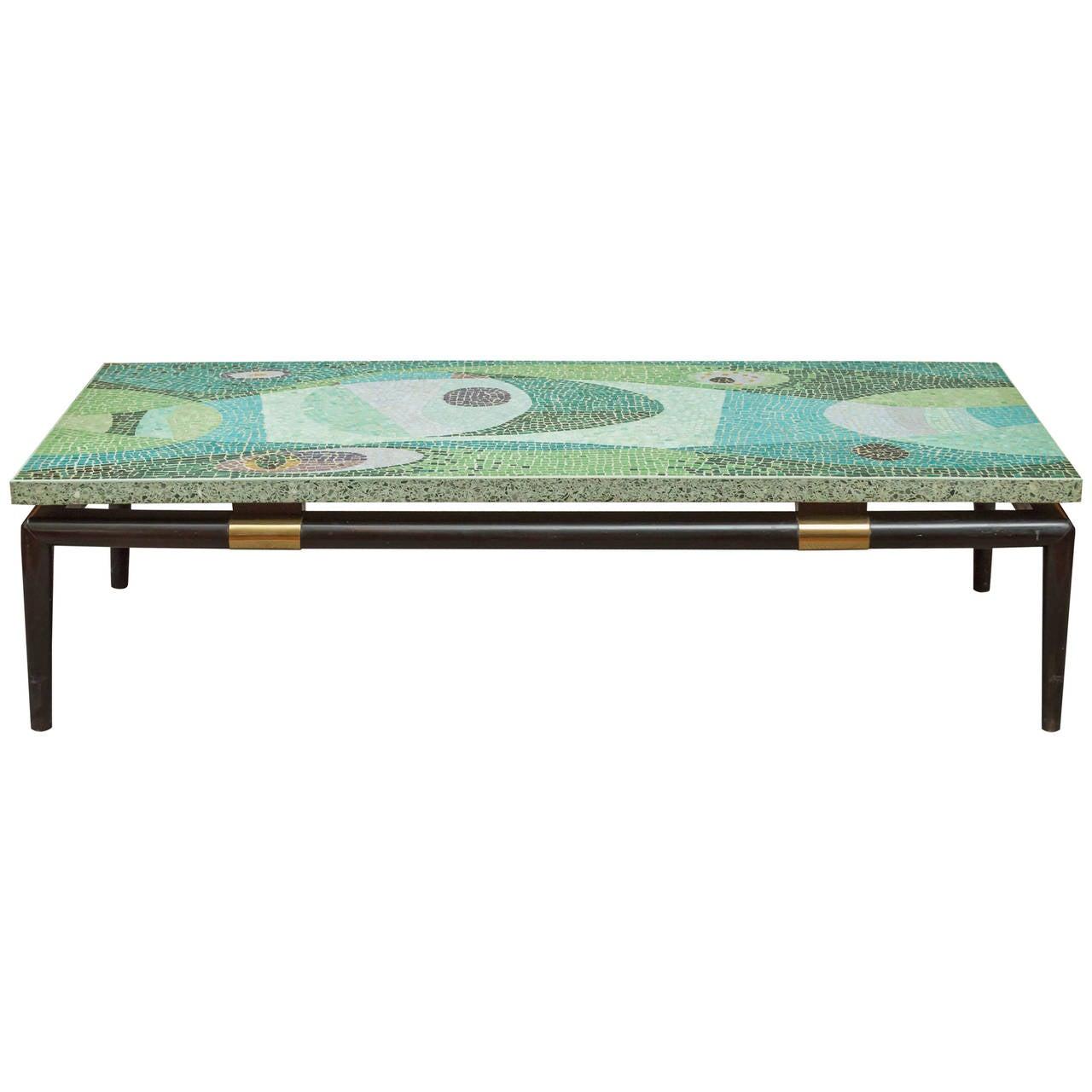 mid century modern mosaic coffee table. Black Bedroom Furniture Sets. Home Design Ideas