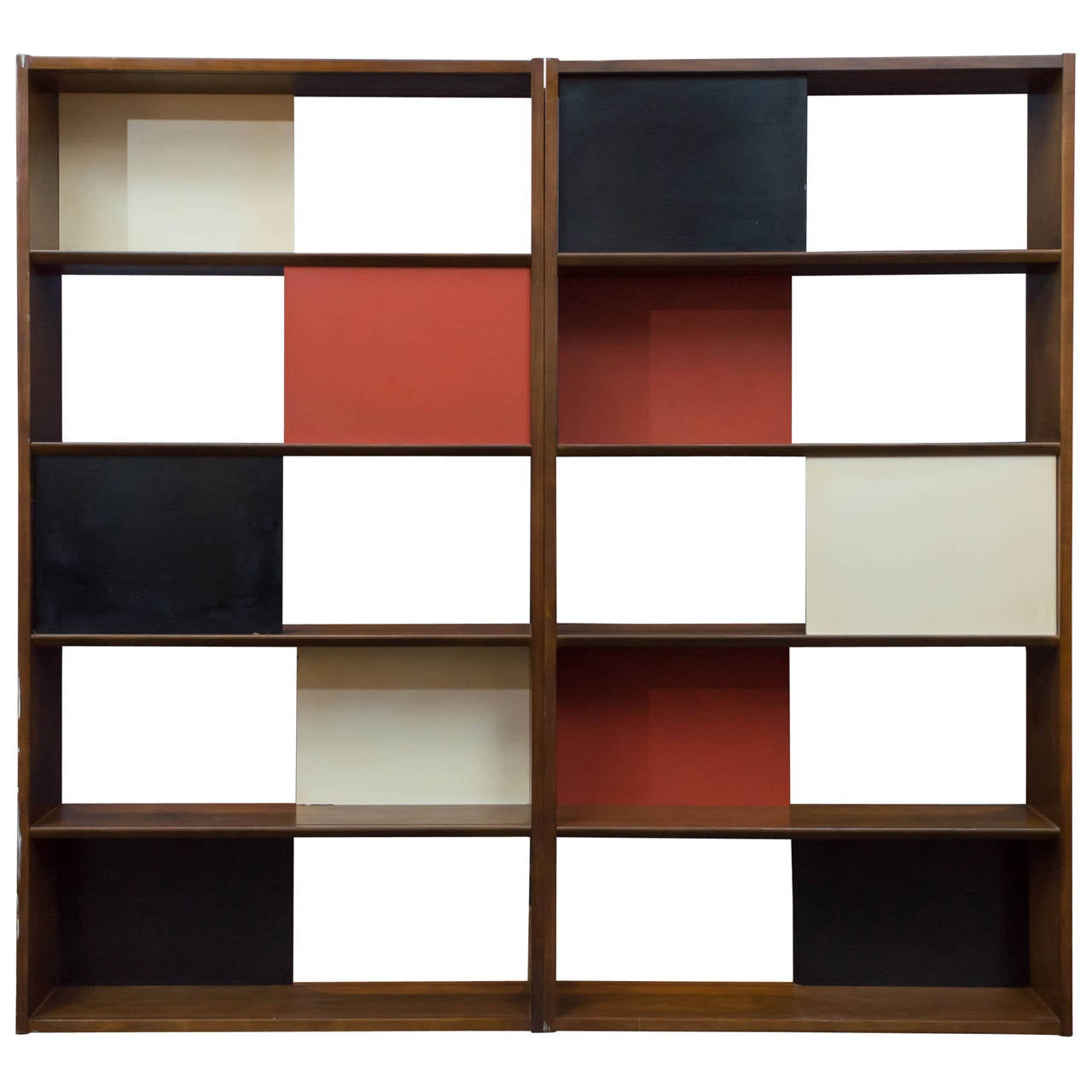 Room divider or bookcase by evans clark for glenn at 1stdibs - Bookshelves as room divider ...
