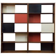 Room Divider or Bookcase by Evans Clark for Glenn
