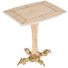 Brass Claw Drink Table by Sylvan