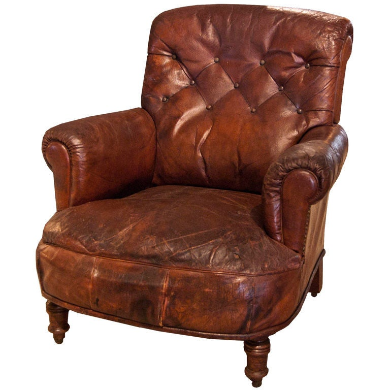 Tufted Leather Side Chair At 1stdibs