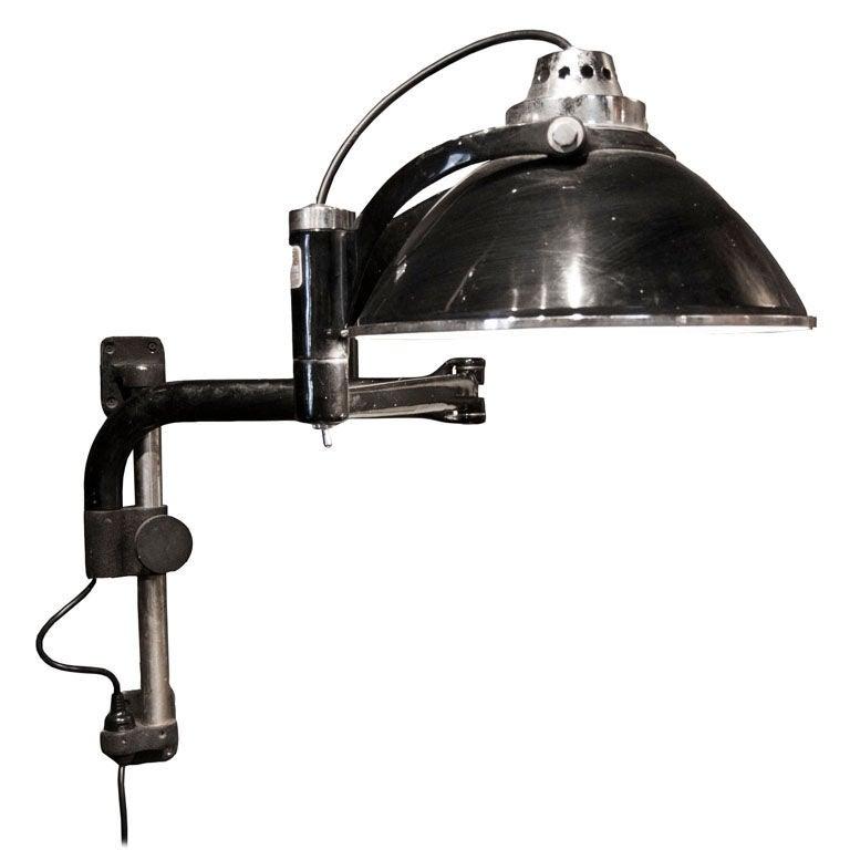 castle swing arm lamp at 1stdibs. Black Bedroom Furniture Sets. Home Design Ideas
