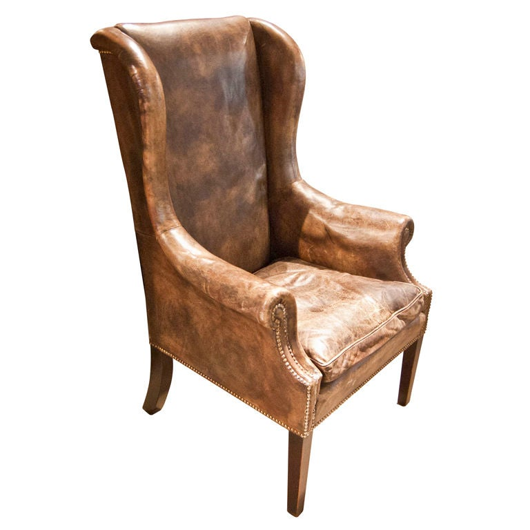 19th c wing back chair at 1stdibs for Wing back recliner chair
