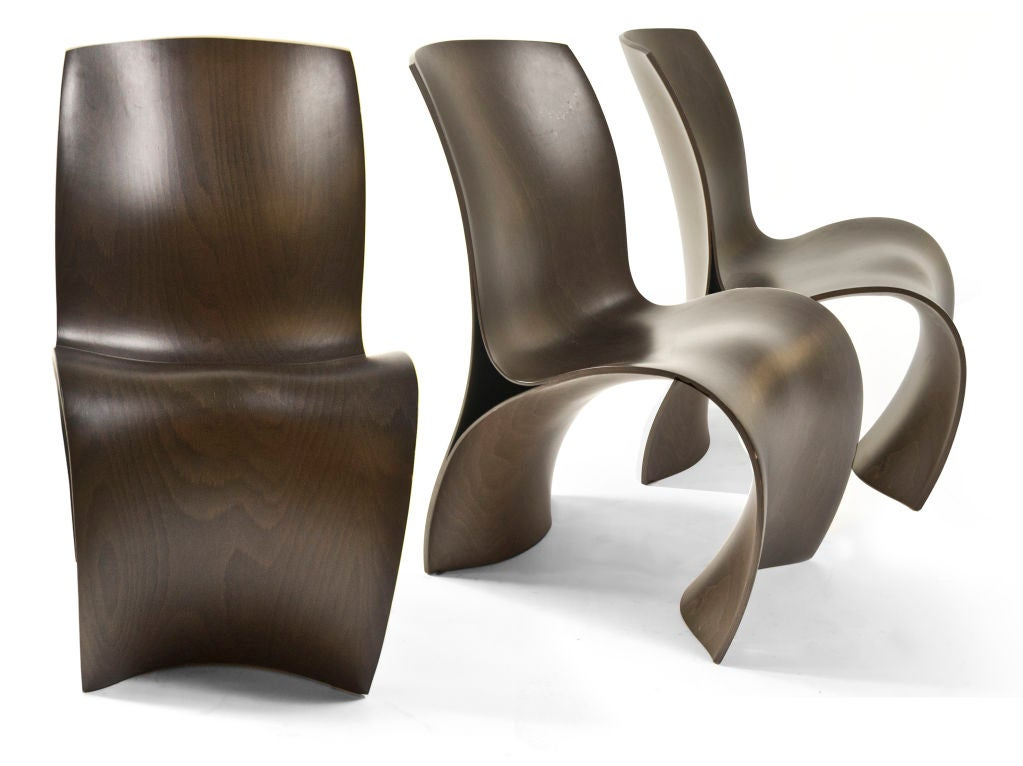three skin chairs by ron arad at 1stdibs. Black Bedroom Furniture Sets. Home Design Ideas