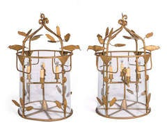 Gilt Birdcage Lanterns
