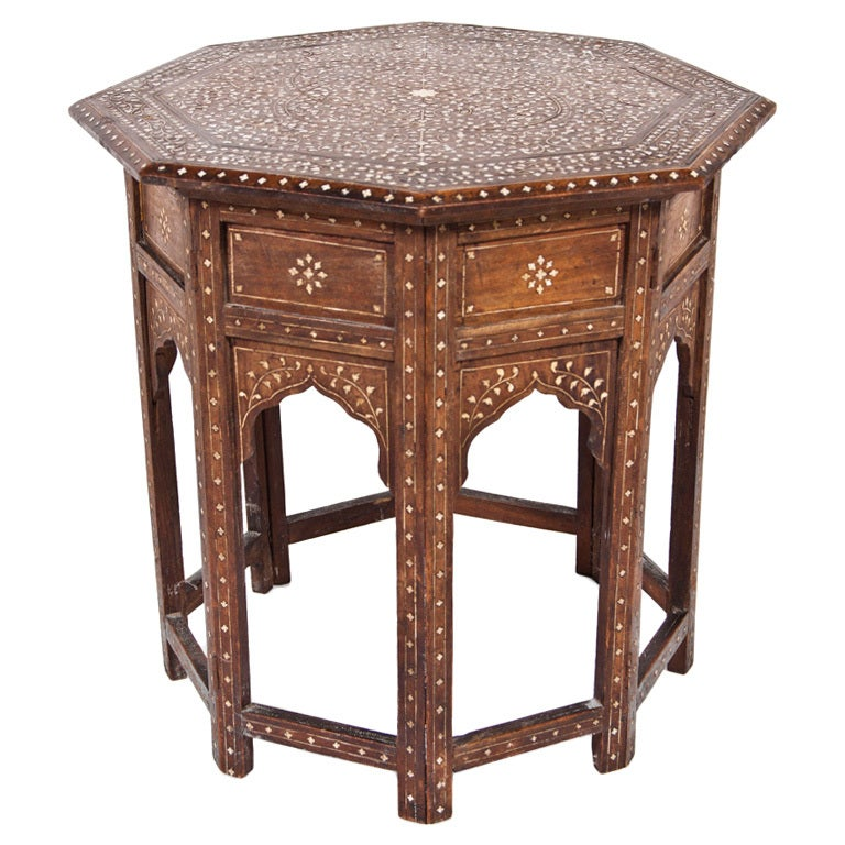 Octagon Side Table ~ Octagonal syrian side table at stdibs