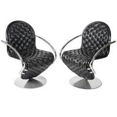 Pair of 1-2-3 Chairs by Verner Panton