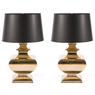 Brass Baluster Lamp