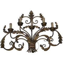 1920's French Gilt Metal Sconce