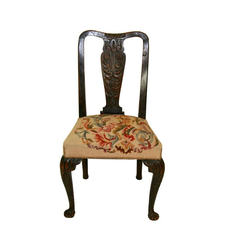 18th Century English Queen Anne Chair At 1stdibs