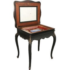 19th Century Ebonized Dressing Table with Single Drawer