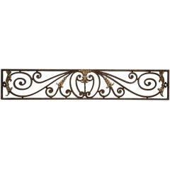 Great 19th Century Wrought Iron and Bronze Panel