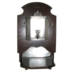 18th Century French Pewter Lavabo with Markings