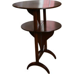 Table, 19th Century French Mahogany Drop-Leaf