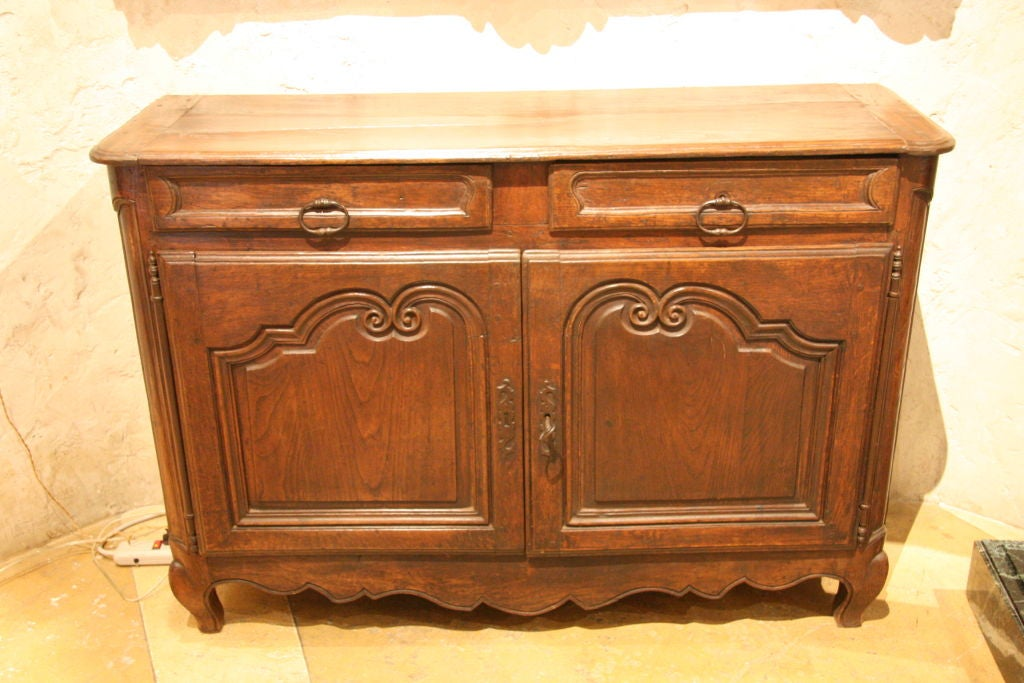 Great small size early s louis xv style oak buffet at