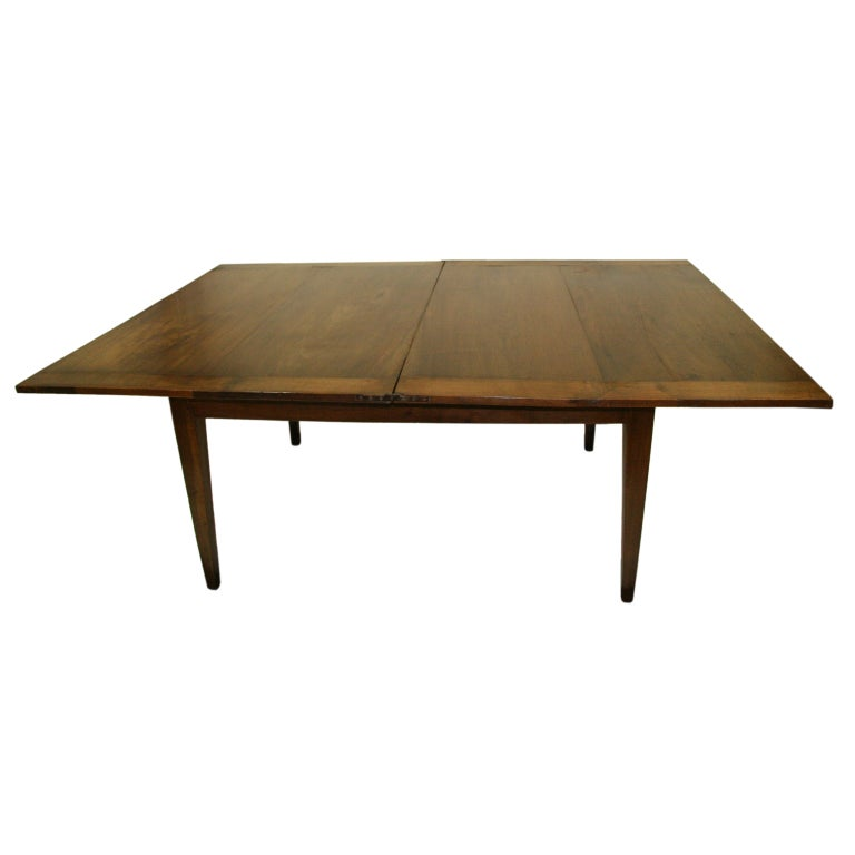 Circa 1850 French Flip Top Walnut Dining Table At 1stdibs