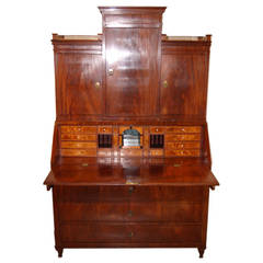 Wonderful of the Period Biedermeier Mahogany Veneered Pyramid Bibliotheque Desk