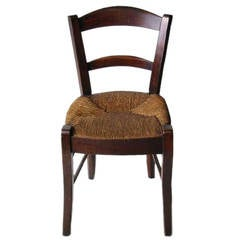 19th Century French Rush Seat Chair