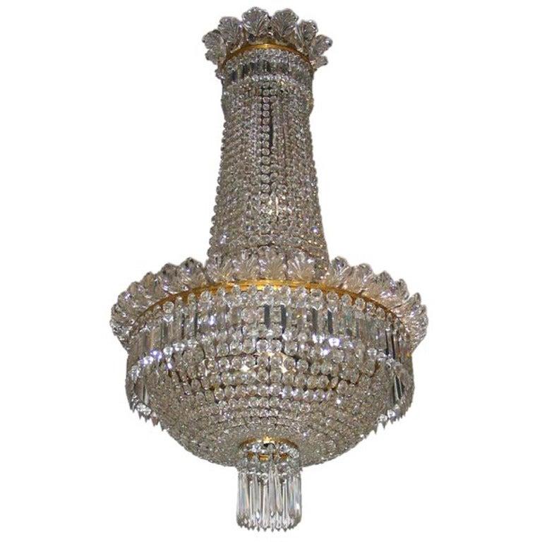 1950s Baccarat Crystal Chandelier For Sale At 1stdibs