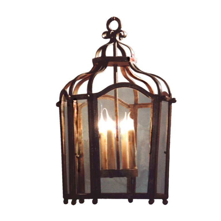 ON SALE Lantern Reproduction Laura Lee Chandelier, Four Light Lantern