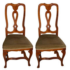 Chair Side 1920s Venetian Walnut Two Available