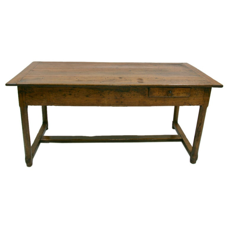 18th Century French Farm Table With Drawer At 1stdibs: dining table with drawer